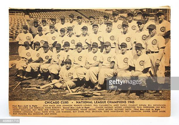 photo of the 1945 chicago cubs - national league champions - baseball team stock pictures, royalty-free photos & images