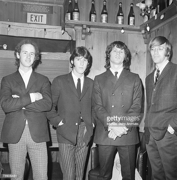 Photo of The Doors California Los Angeles Whisky a Go Go LR Robbie Krieger Ray Manzarek Jim Morrison John Densmore