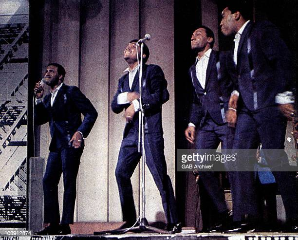Photo of The Four Tops performing live on stage