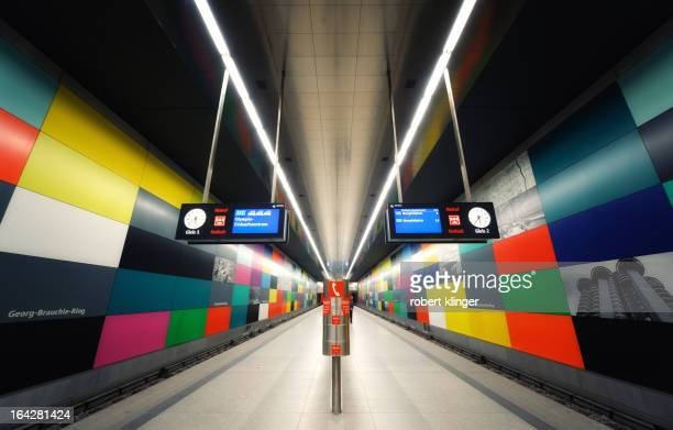 Photo of the Futuristic Metro Station GeorgBrauchleRing in Munich Germany
