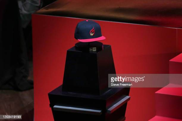 Photo of the Heat Check Gaming hat during the NBA 2K League Draft on February 22 2020 at Terminal 5 in New York New York NOTE TO USER User expressly...