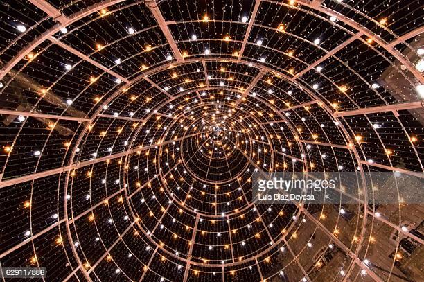 photo of the inside of a christmas tree at vigo 2016 - vigo stock pictures, royalty-free photos & images
