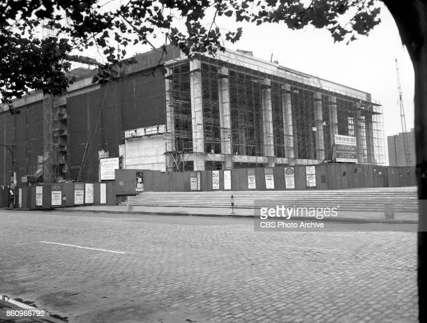 Photo of the interior and exterior of the New York State Theater under construction at Lincoln Center The photo used for the CBS television special...