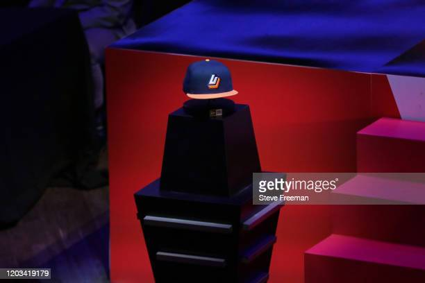 Photo of the Jazz Gaming hat during the NBA 2K League Draft on February 22 2020 at Terminal 5 in New York New York NOTE TO USER User expressly...