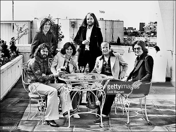 Photo of THE KINKS The Dorchester 22nd June 1976 with Clive Davis Arita Records