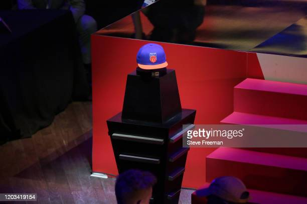 Photo of the Knicks Gaming hat during the NBA 2K League Draft on February 22 2020 at Terminal 5 in New York New York NOTE TO USER User expressly...