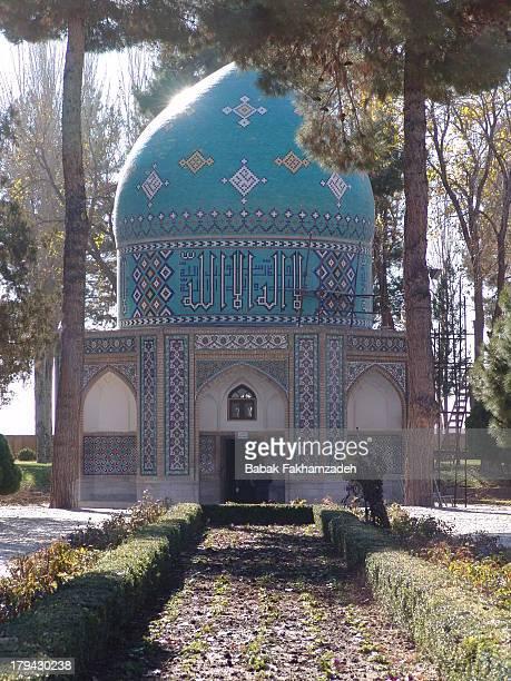 Photo of the mausoleum above Kamal Al Molk's grave in Neishabur, Iran.