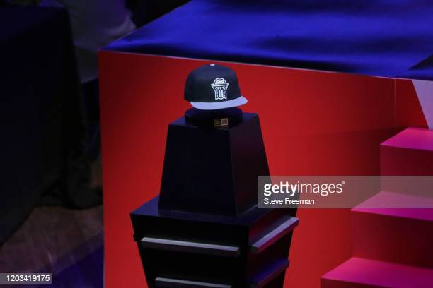 Photo of the Nets GC hat during the NBA 2K League Draft on February 22 2020 at Terminal 5 in New York New York NOTE TO USER User expressly...