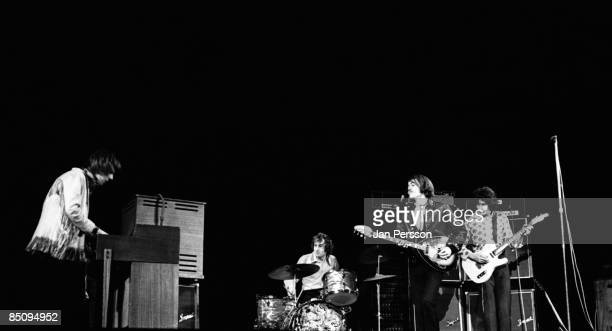 Photo of The Nice 4; The Nice Copenhagen May 1968, Keith Emerson, Brian 'Blinky' Davison, Keith 'Lee' Jackson and Davy O'List