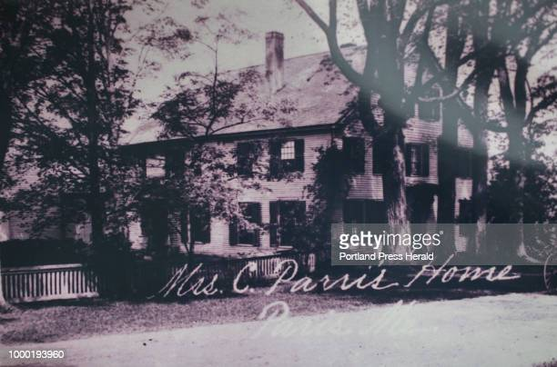 A photo of the Parris home from the late 1800s or early 1900s