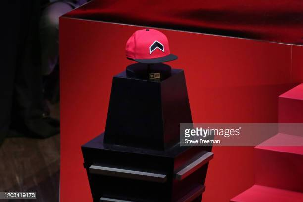 Photo of the Raptors Uprising GC hat during the NBA 2K League Draft on February 22 2020 at Terminal 5 in New York New York NOTE TO USER User...