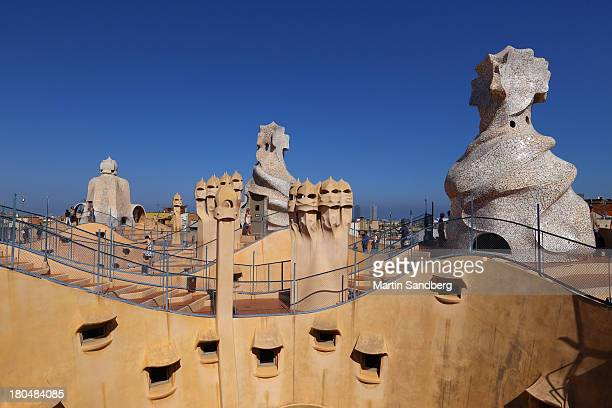 CONTENT] Photo of the roof of Casa Mila or La Pedrera as it is popularly known The building was constructed between 1906 and 1912 by the architect...