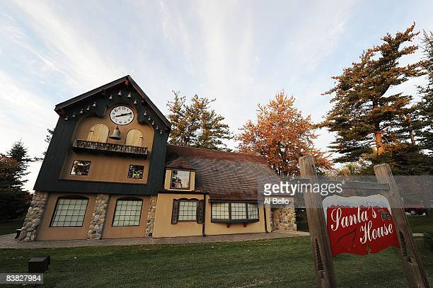 A photo of the Santa School House where classes take place during the Charles W Howard Santa Claus School workshop on October 17 2008 in Midland...
