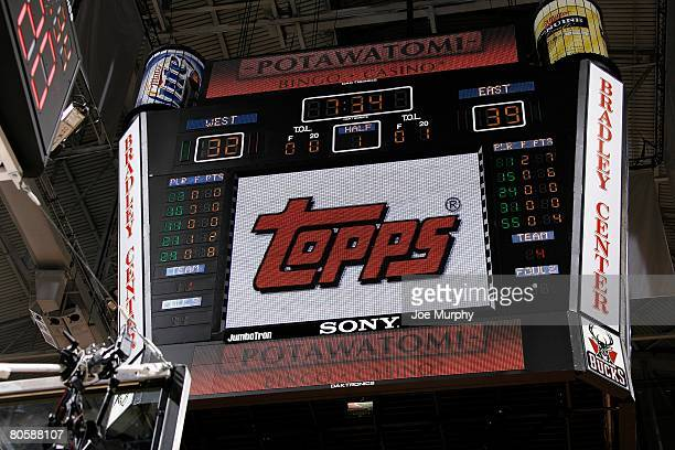 A photo of the scoreboard during the McDonald's AllAmerican High School game on March 26 2008 at the Bradley Center in Milwaukee Wisconsin The East...