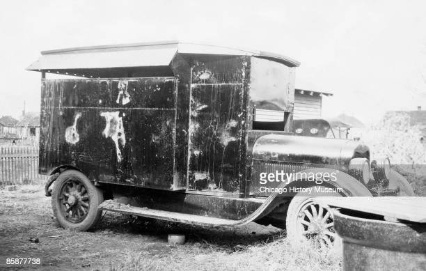 Photo of the Shelton Gang's automobile Illinois ca1920s The Shelton Gang and the Birger Gang were rival gangs that operated outside of Chicago in the...