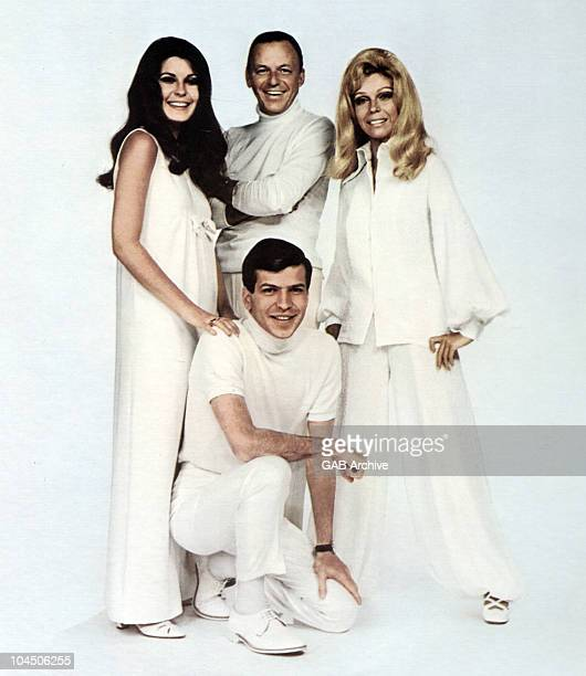 Photo of The Sinatra family in 1968. L-R Tina Sinatra, Frank Sinatra Frank Sinatra, Jr. Nancy Sinatra