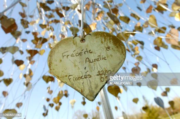 Photo of the tree of lovers made on February 10 2006 in SaintValentin near Chateauroux four days of Valentine's Day the traditional festival of...
