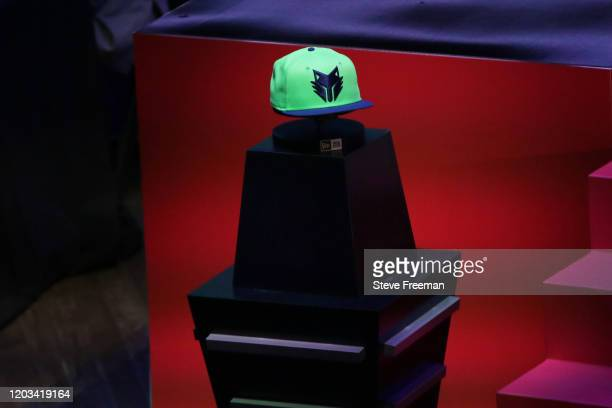 Photo of the TWolves Gaming hat during the NBA 2K League Draft on February 22 2020 at Terminal 5 in New York New York NOTE TO USER User expressly...