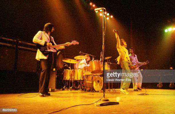 LYCEUM Photo of The Who and John ENTWISTLE and Keith MOON and Roger DALTREY and Pete TOWNSHEND Group performing on stage during Quadrophenia Tour LR...