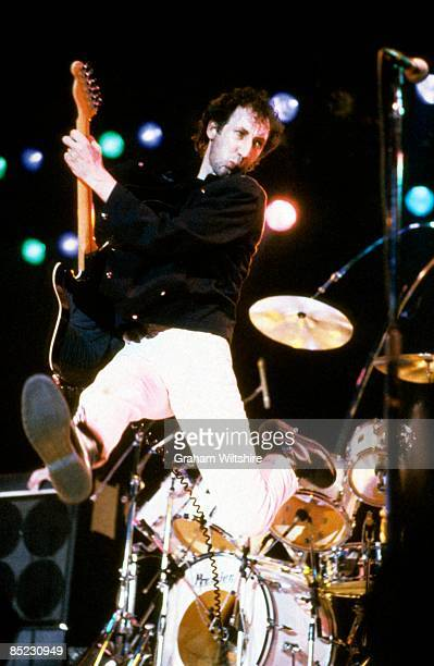 ARENA Photo of The Who and Pete TOWNSHEND of The Who performing live onstage jumping