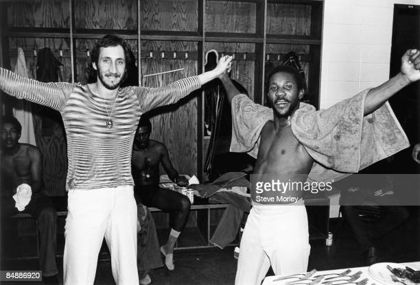 USA Photo of The Who and Toots HIBBERT and Pete TOWNSHEND Pete Townshend of The Who and Toots Hibbert of Toots The Maytals posed backstage in...