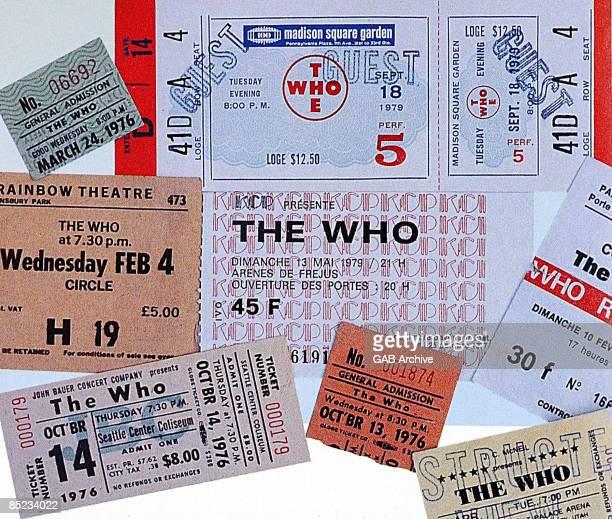 Photo of The Who Concert tickets memorabilia