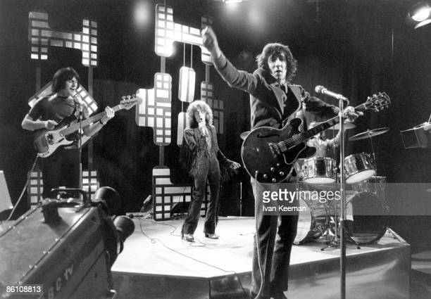 POPS Photo of The Who John Entwistle Roger Daltrey Pete Townshend performing on show