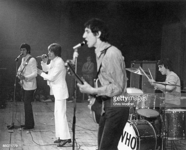 Photo of The Who John Entwistle Roger Daltrey Pete Towshend Keith Moon performing live onstage