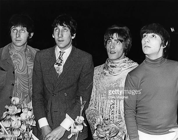 Photo of The Who LR John Entwistle Pete Townshend Roger Daltrey Keith Moon posed group shot