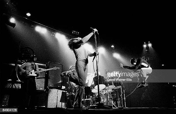 Photo of The Who; L-R: John Entwistle, RogerDaltrey, Pete Townshend , performing live onstage at Kings Hall, Belle Vue on Quadrophenia tour
