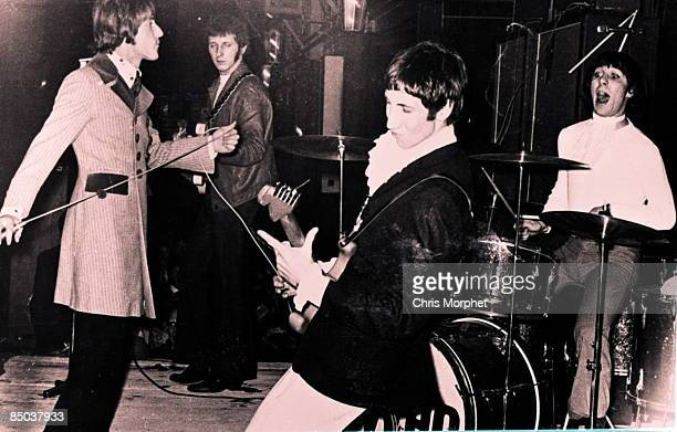 Roger Daltrey John Entwistle Pete Townshend Keith Moon group shot performing live onstage