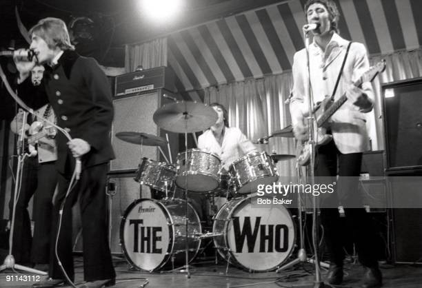 MARQUEE Photo of The Who LR Roger Daltrey Keith Moon Pete Townshend performing live onstage on 'Beat Club' German TV Show