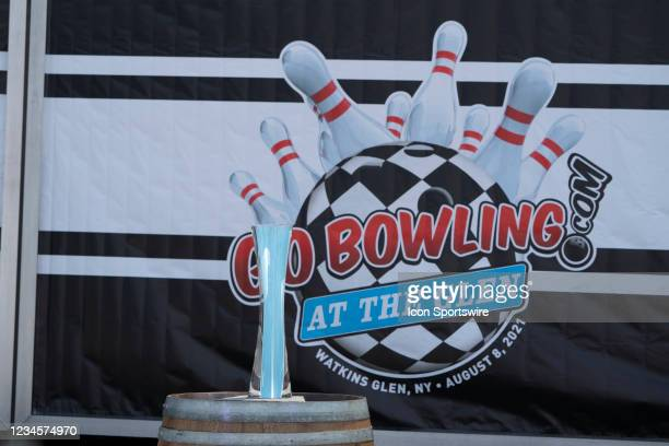 Photo of the winners trophy for the NASCAR Cup Series - Go Bowling race prior to the start of the NASCAR Cup Series - Go Bowling as The Glen race on...
