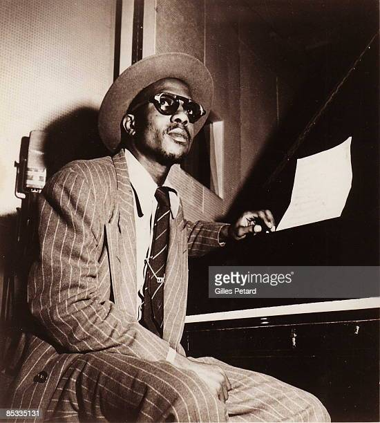 Photo of Thelonious Monk Portrait of Thelonious Monk at piano