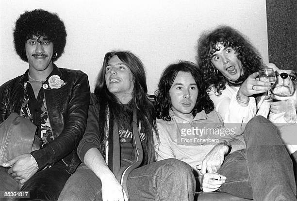 Photo of THIN LIZZY and Scott GORHAM and Phil LYNOTT and Brian ROBERTSON and Brian DOWNEY LR Phil Lynott Scott Gorham Brian Downey Brian Robertson...