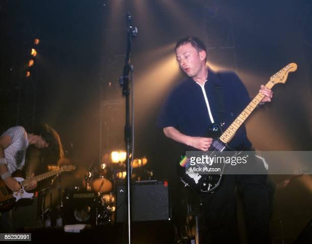 Photo of Thom YORKE and RADIOHEAD Jonny Greenwood Thom Yorke performing live onstage