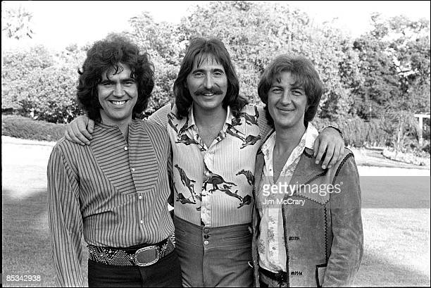 Photo of THREE DOG NIGHT and Chuck NEGRON and Cory WELLS and Danny HUTTON; Posed group portrait L-R Danny Hutton, Chuck Negron and Cory Wells