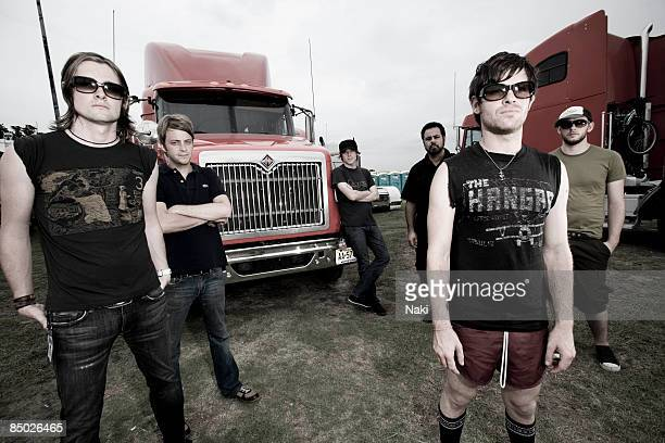 Photo of THURSDAY Col Posed taken on the Vans Warped Tour Bay Front Park 26/6/06