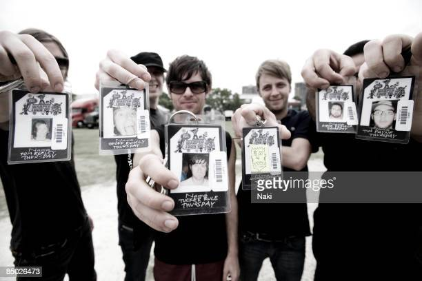 Photo of THURSDAY; Col. Posed, taken on the Vans Warped Tour. Bay Front Park, 26/6/06