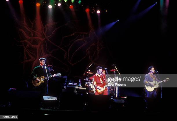 UNITED STATES OCTOBER 02 BEACON THEATER Photo of Tim FINN and Paul HESTER and Neil FINN and CROWDED HOUSE LR Neil Finn Nick Seymour Paul Hester Tim...