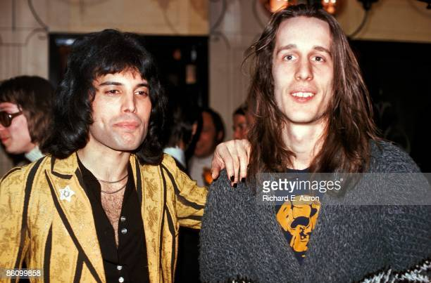 Photo of Todd RUNDGREN and Freddie MERCURY and QUEEN Freddie Mercury with Todd Rundgren