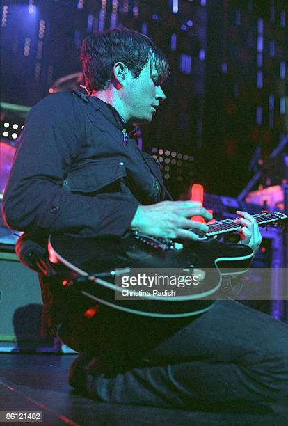 Photo of Tom DELONGE and ANGELS AIRWAVES Tom DeLonge performing on stage at the KROQ Almost Acoustic Christmas concert held at the Gibson...