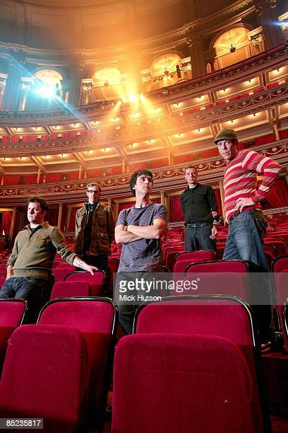 HALL Photo of Tom PELOSO and Joe PLUMMER and Jeremiah GREEN and Isaac BROCK and MODEST MOUSE and Johnny MARR LR Isaac Brock Jeremiah Green Johnny...