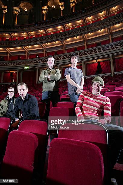 HALL Photo of Tom PELOSO and Joe PLUMMER and Jeremiah GREEN and Isaac BROCK and MODEST MOUSE and Johnny MARR LR Jeremiah Green Joe Plummer Isaac...
