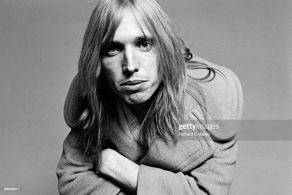 Photo of Tom PETTY; Posed studio portrait of Tom Petty