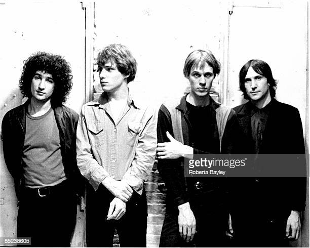 Photo of Tom VERLAINE and TELEVISION and Richard LLOYD and Fred SMITH LR Billy Ficca Richard Lloyd Tom Verlaine Fred Smith