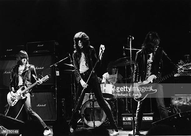Photo of Tommy RAMONE and RAMONES and Johnny RAMONE and Dee Dee RAMONE LR Johnny Ramone Joey Ramone Tommy Ramone Dee Dee Ramone