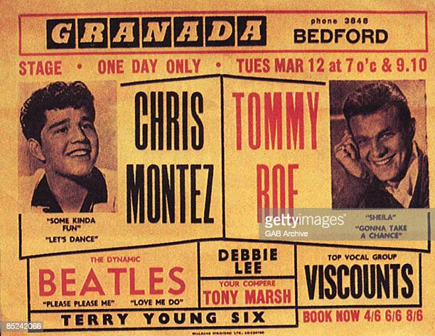 Photo of Tommy ROE and BEATLES and CONCERT POSTERS and Chris MONTEZ Poster from Chris Montez/Tommy Roe package tour Bedford Granada