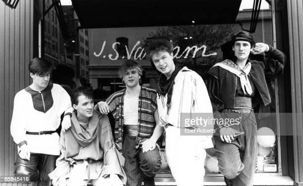 Photo of Tony HADLEY and SPANDAU BALLET and Gary KEMP and Martin KEMP LR John Keeble Martin Kemp Steve Norman Gary Kemp Tony Hadley