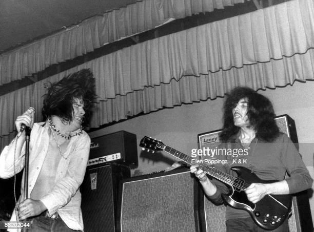 CLUB Photo of Tony IOMMI and Ozzy OSBOURNE and BLACK SABBATH Ozzy Osbourne Tony Iommi performing live onstage as 'Earth' Photo Ellen Poppinga